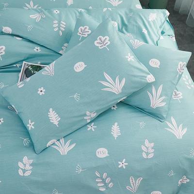 2019新款全棉-单枕套 48cmX74cm一对 清新世界