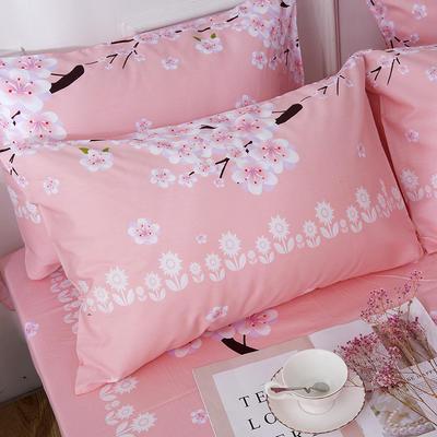 2019新款全棉-单枕套 48cmX74cm一对 十里桃花-粉