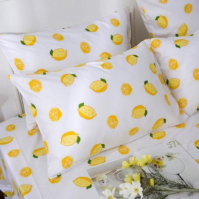 2019新款全棉-单枕套 48cmX74cm一对 一颗柠檬