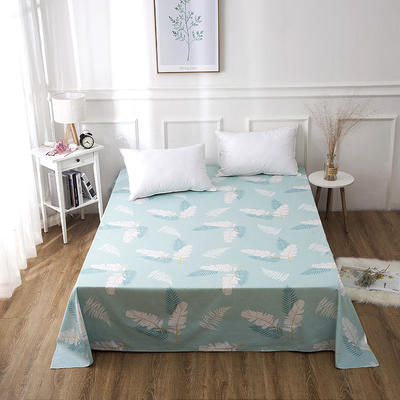 2019新款全棉-单床单 130*230CM 热带风情-绿