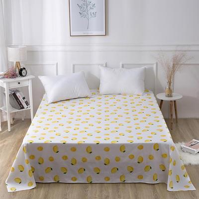 2019新款全棉-单床单 130*230CM 一颗柠檬