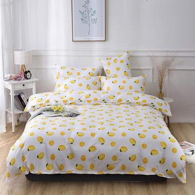 2019新款全棉-四件套 1.2m床三件套 一颗柠檬