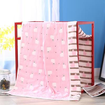 2019新款六层纱布浴巾-80*160cm/条 10羊驼粉
