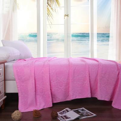 2019新款老式毛圈毛巾被 150x200cm 5欧窗亮粉色
