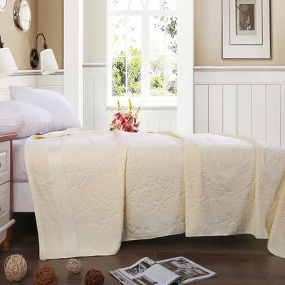 2019新款老式毛圈毛巾被 150x200cm 6欧窗乳黄白色