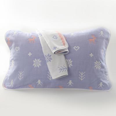 2019新款六层纱布枕巾-50*80cm/对 仙林小鹿