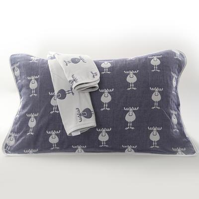 2019新款六层纱布枕巾-50*80cm/对 麋鹿