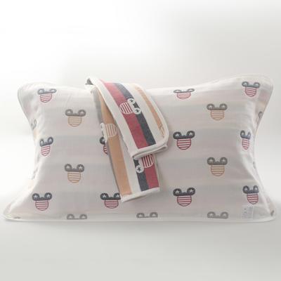 2019新款六层纱布枕巾-50*80cm/对 可爱米奇