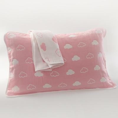 2019新款六层纱布枕巾-50*80cm/对 云朵粉色