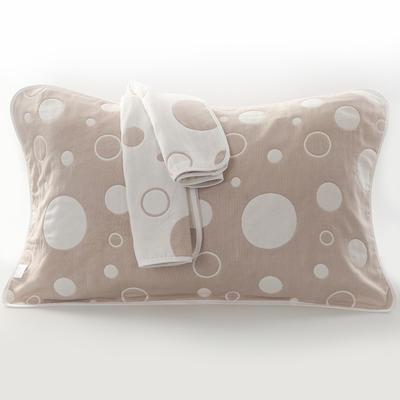 2019新款六层纱布枕巾-50*80cm/对 气泡驼色