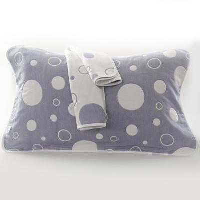 2019新款六层纱布枕巾-50*80cm/对 气泡蓝色