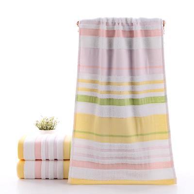 2019新款毛巾-33*74cm 炫彩条纹黄