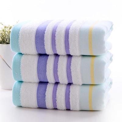 2019新款浴巾-70*140cm 炫彩条纹蓝