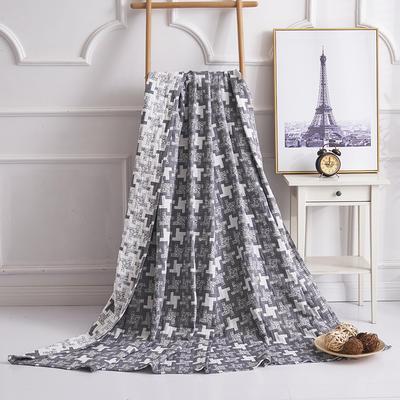 2019新款水洗棉纱布毛巾被 150x200cm 风车灰