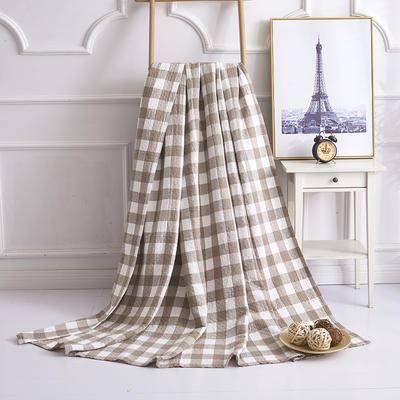 2019新款水洗棉纱布毛巾被 100x150cm 冷之巧格灰