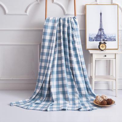 2019新款水洗棉纱布毛巾被 100x150cm 冷之巧格兰