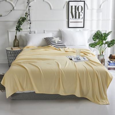 2019新款竹纤维毛巾被 100x150cm 棱形格黄