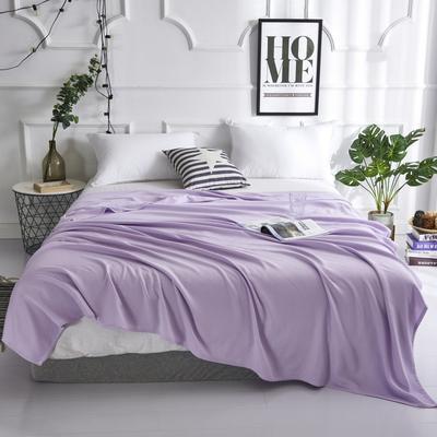 2019新款竹纤维毛巾被 100x150cm 棱形格紫
