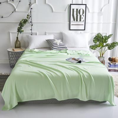 2019新款竹纤维毛巾被 100x150cm 菱形格绿