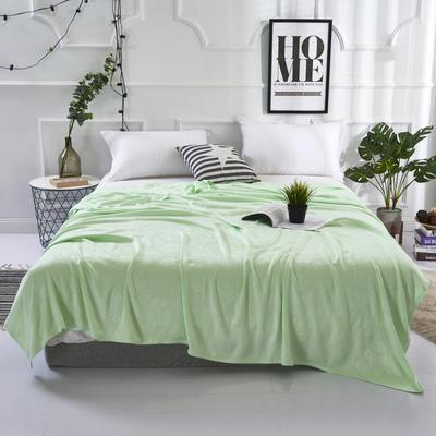 2019新款竹纤维毛巾被 100x150cm 六叶草绿