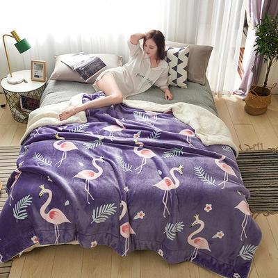 2019新款臻幻绒+羊羔绒毛毯 200*230cm 烈焰鸟