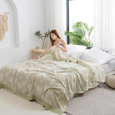 2020新款竹棉盖毯 150*200cm 牛奶绿
