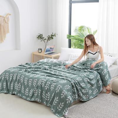 2020新款竹纤维加棉盖毯 100*150cm 麦穗绿