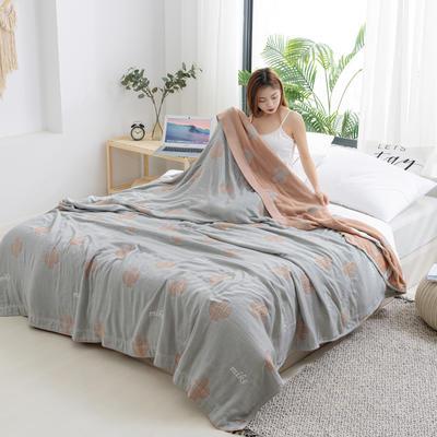 2020新款竹纤维加棉盖毯 100*150cm 仙人掌棕灰