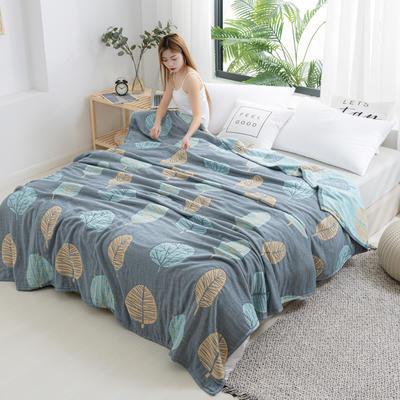 2020新款竹纤维加棉盖毯 150*200cm 叶韵蓝