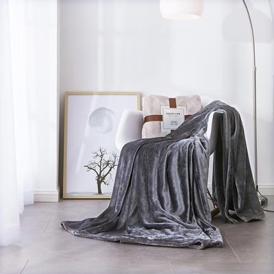 2019新款超柔高克重纯色毛毯 1.0*1.5m 1 典雅灰