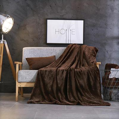 2019新款超柔高克重纯色毛毯 1.0*1.5m 3 自然咖