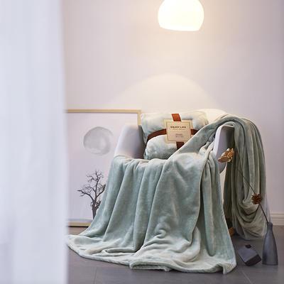 2019新款超柔高克重纯色毛毯 1.0*1.5m 6 抹茶绿