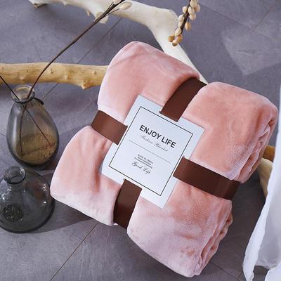 2019新款超柔高克重纯色毛毯 1.0*1.5m 7 韩国粉