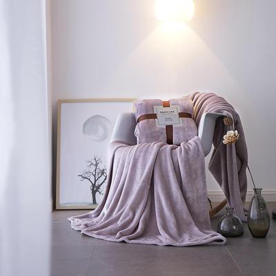2019新款超柔高克重纯色毛毯 1.0*1.5m 8 香芋紫