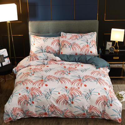 2019新款微商实拍图 跨境外贸款柔锦棉全活性磨毛四件套 2.0m(6.6英尺)床 时尚欧式