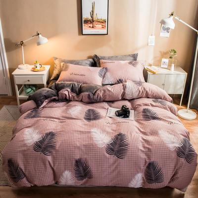 2019纯棉+水晶绒四件套 1.2m床单款三件套 连理枝