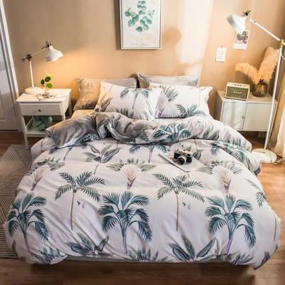 2019纯棉+水晶绒四件套 1.2m床单款三件套 满采轩米