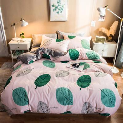 2019纯棉+水晶绒四件套 1.2m床单款三件套 西域暮色