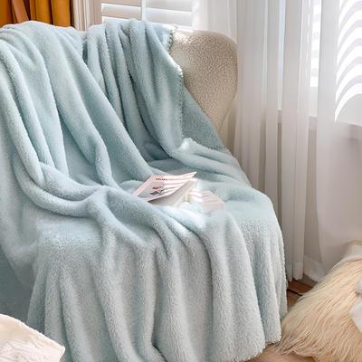 2020新款双面泰迪绒(慕斯系列)—单盖毯/单床单 245cmx250cm 薄荷绿