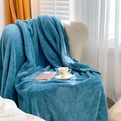 2020新款双面泰迪绒(慕斯系列)—单盖毯/单床单 245cmx250cm 莫绿色