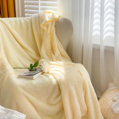 2020新款双面泰迪绒(慕斯系列)—单盖毯/单床单 245cmx250cm 奶黄色