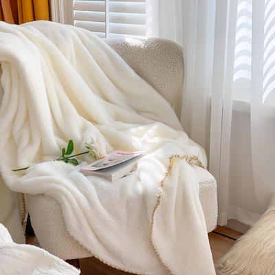2020新款双面泰迪绒(慕斯系列)—单盖毯/单床单 245cmx250cm 糯米白