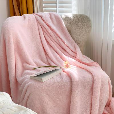 2020新款双面泰迪绒(慕斯系列)—单盖毯/单床单 245cmx250cm 少女粉