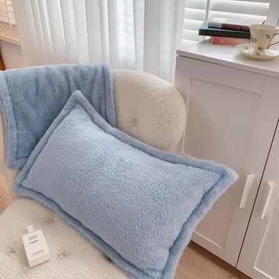 2020新款双面泰迪绒(慕斯系列)—单枕套 48*74cm/对 黛月兰