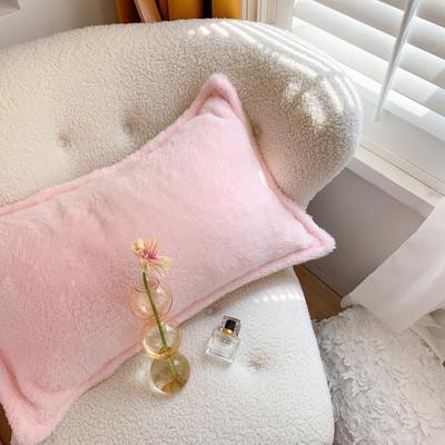 2020新款双面泰迪绒(慕斯系列)—单枕套 48*74cm/对 少女粉