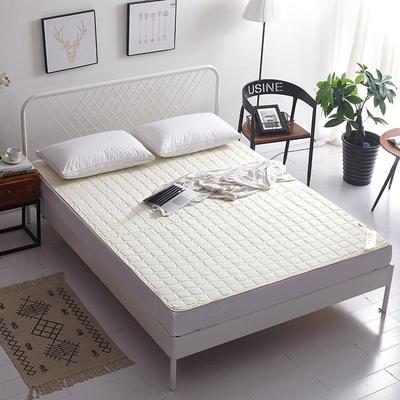 2019新款纯色可水洗可折叠薄款磨毛床垫 180*200 米白