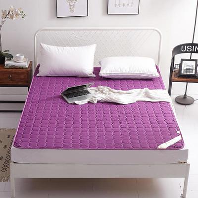 2019新款纯色可水洗可折叠薄款磨毛床垫 180*200 紫色