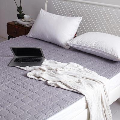 2019新款纯色可水洗可折叠薄款磨毛床垫 150*200 浅灰色