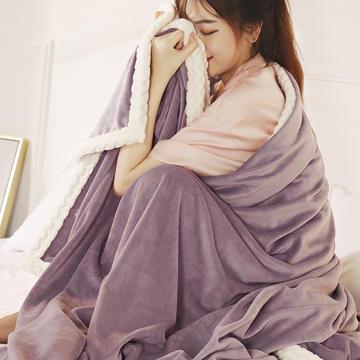 2019新款加厚牛奶绒+贝贝绒复合毯被套毛毯盖毯
