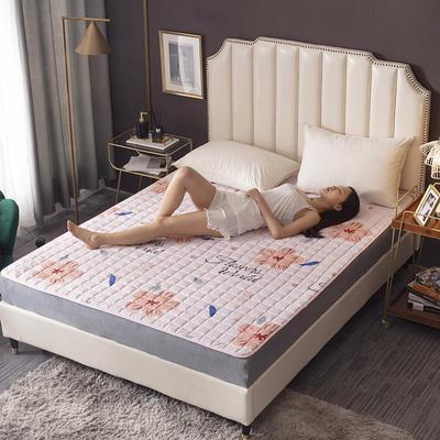2020新款-磨毛四季床垫(1) 90*200 桃花朵朵
